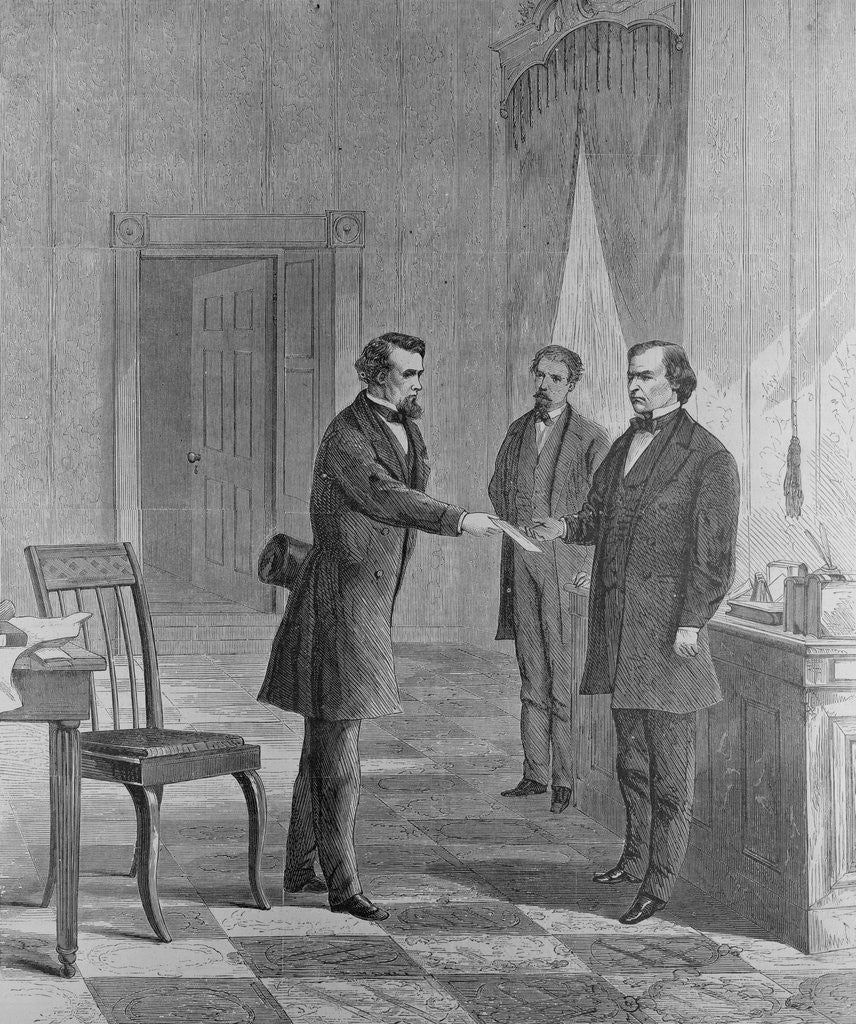 Detail of Andrew Johnson Receiving Impeachment Summons by Corbis