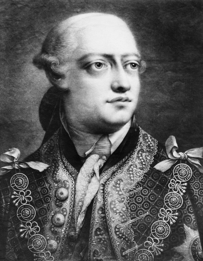 Detail of Portrait of King George III by Corbis