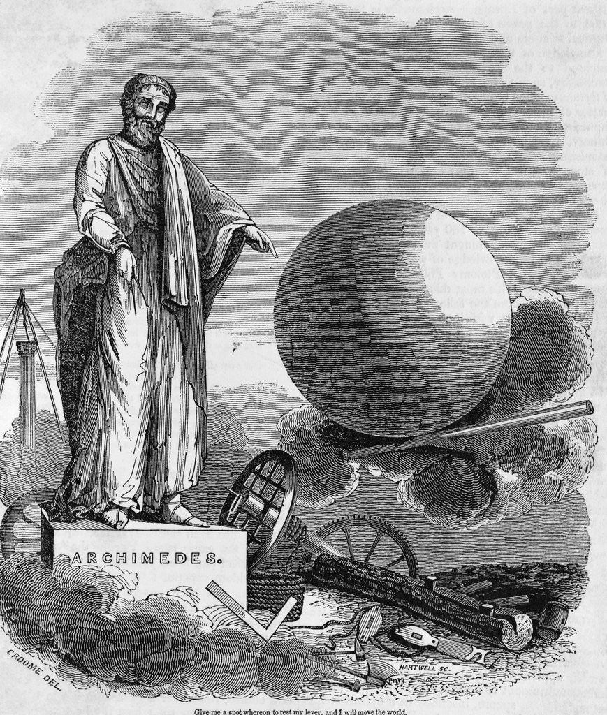 Detail of Archimedes Demonstrating Power of the Lever by Corbis
