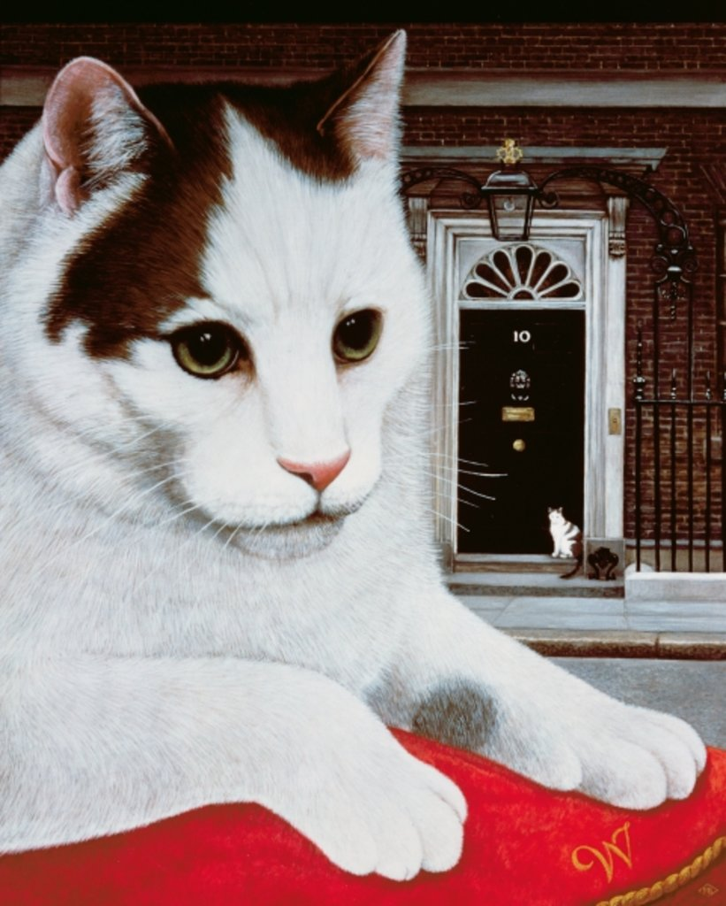 Detail of Wilberforce, the Number 10 Cat, 1987 by Frances Broomfield