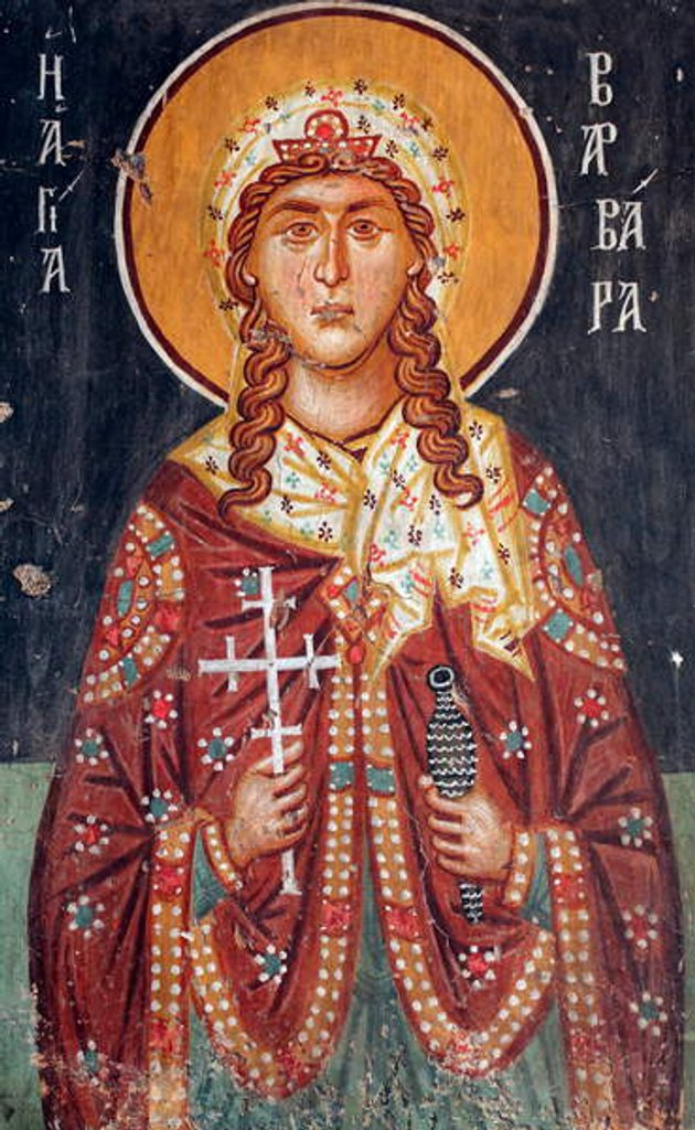 Detail of Byzantine fresco from the 15th century Saint Barbara by Anonymous