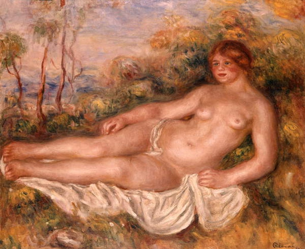 Detail of The Reclining Bather 1906 by Pierre Auguste Renoir