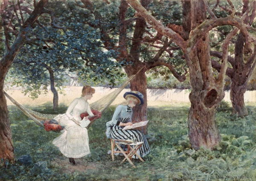 Detail of Summer Afternoon, Morris, Connecticut, 1885 by William Henry Lippincott
