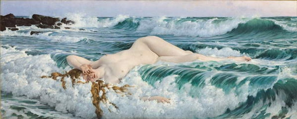 Detail of Aphrodite, c.1893 by Adolph Hiremy-Hirschl