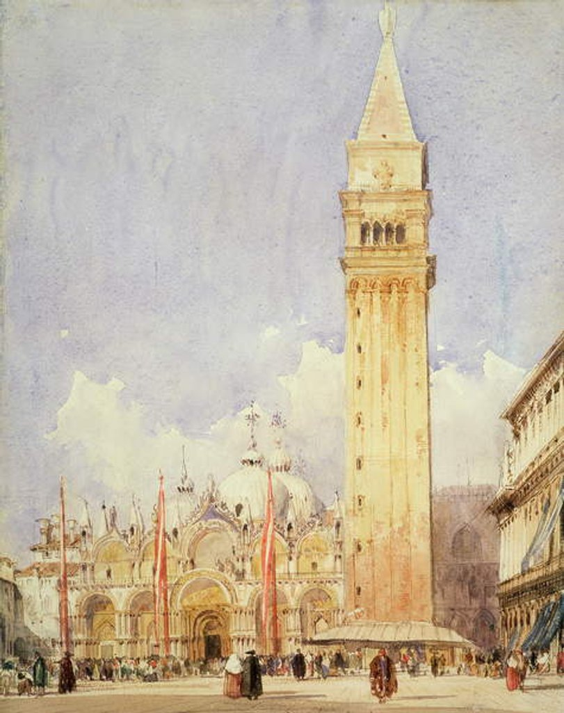 Detail of Piazza San Marco, Venice, c.1826 by Richard Parkes Bonington