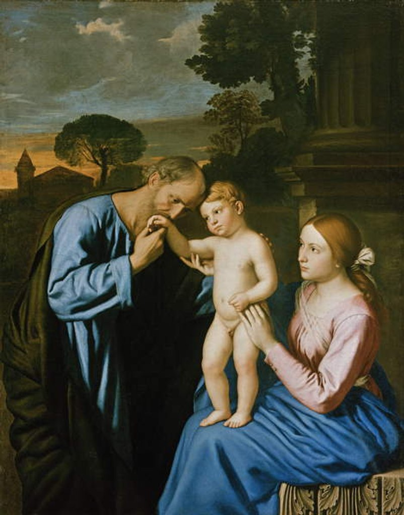 Detail of The Holy Family by Il Sassoferrato