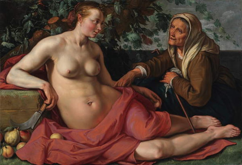 Vertumnus and Pomona, 1615 [see 5938199] by Hendrik Goltzius