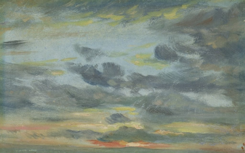 Detail of Sky Study, Sunset, 1821-22 by John Constable