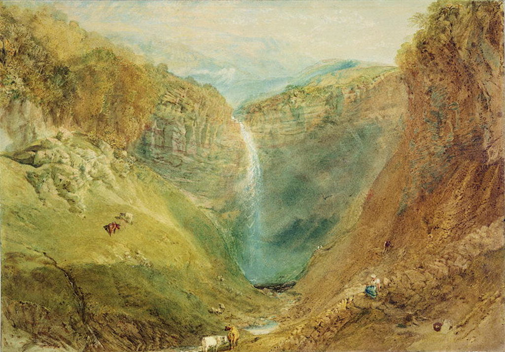 Detail of Hardraw Fall, Yorkshire, c.1820 by Joseph Mallord William Turner