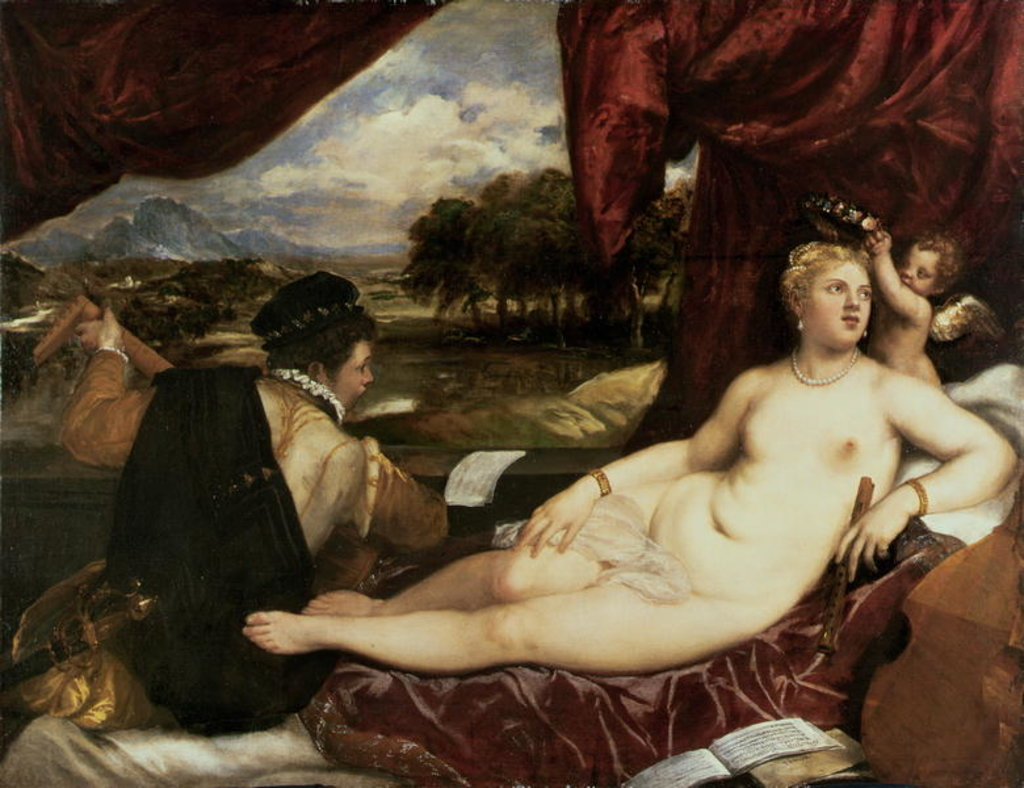 Venus and Cupid with a Lute Player, 1555-65