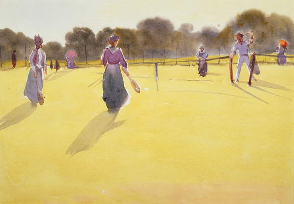 Detail of Edwardians at Tennis by Tom Simpson