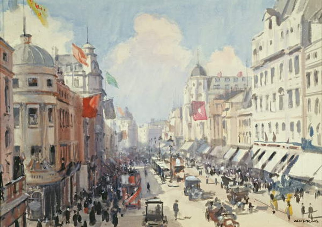 Detail of Regent Street, London by Cecil King