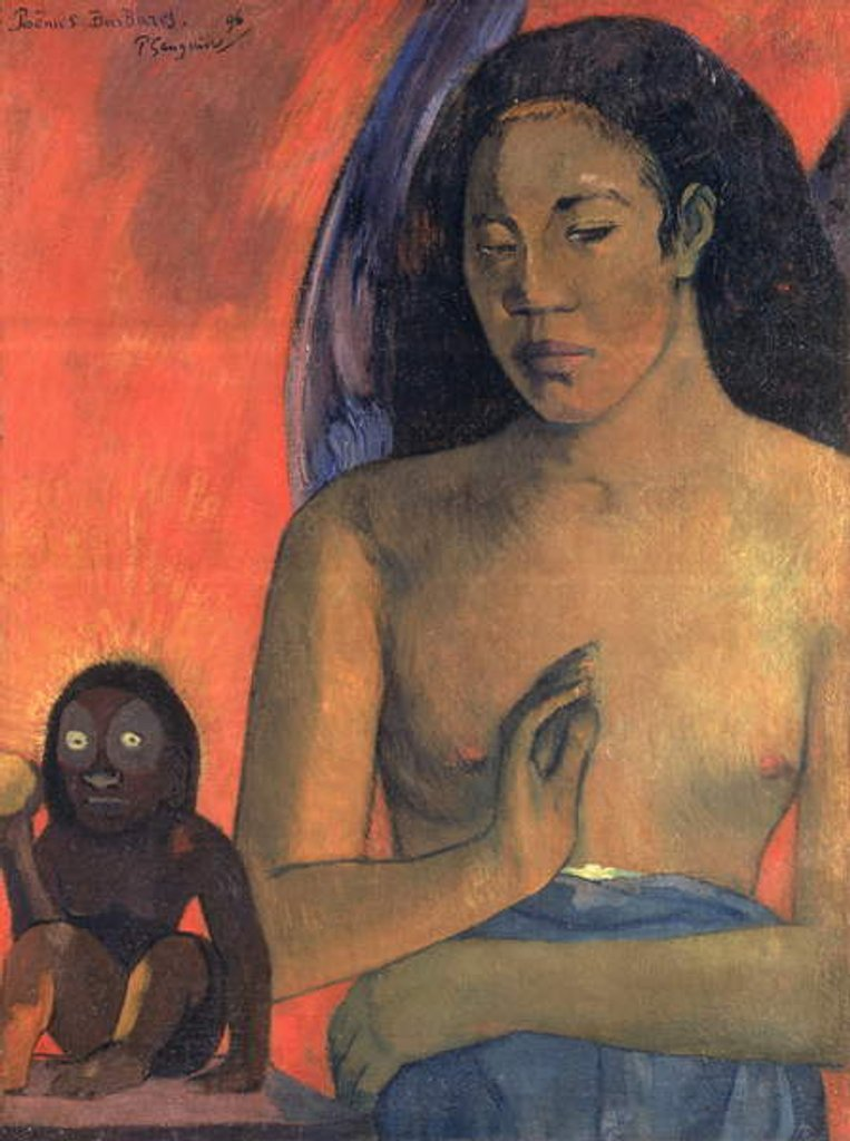 Detail of Savage Poems, 1896 by Paul Gauguin