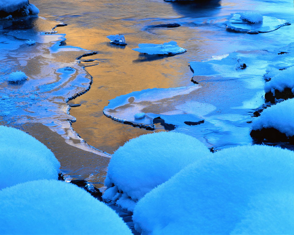 Detail of Ice and Snow on a Beach by Corbis