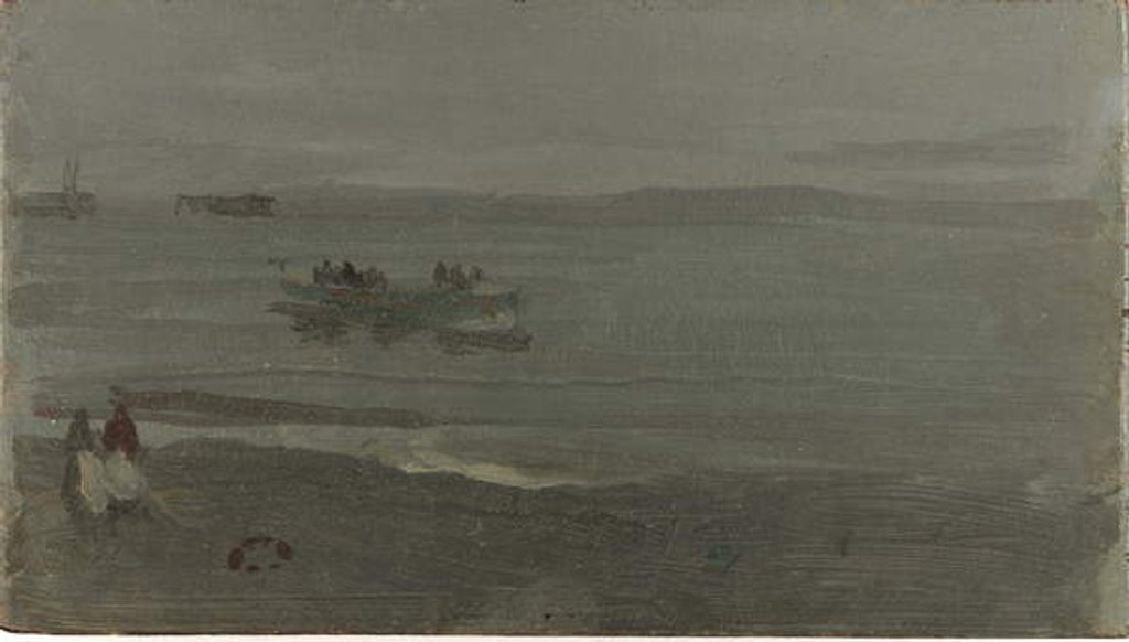 Detail of Blue and Silver - Boat Entering Pourville, 1899 by James Abbott McNeill Whistler