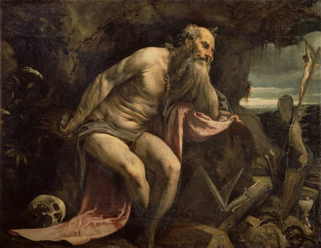 Detail of St. Jerome, early 1560s by Jacopo Bassano