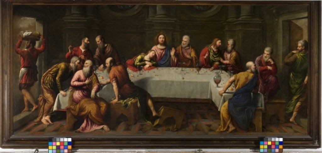 Detail of The Last Supper by Paris Bordone