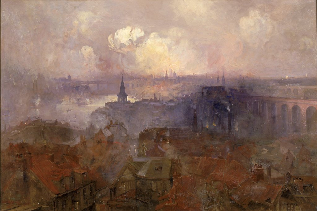 Detail of Newcastle upon Tyne from the East by Niels Møller Lund