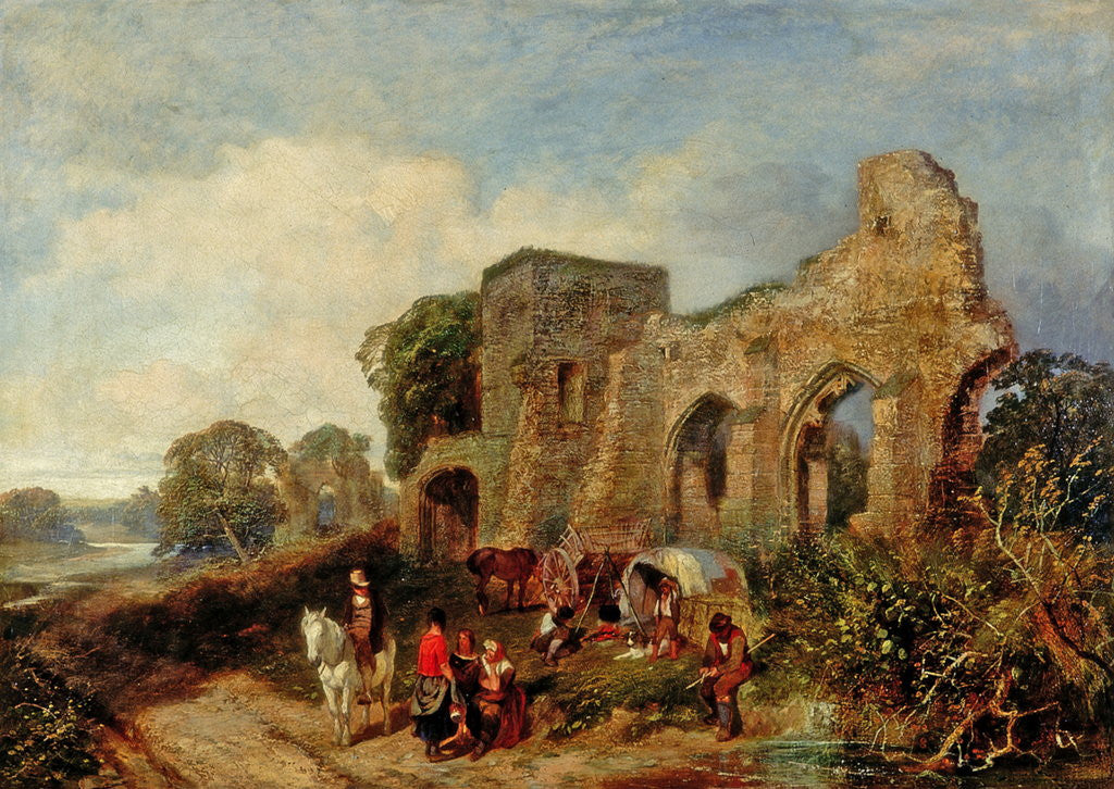 Detail of Easby Abbey by James Peel