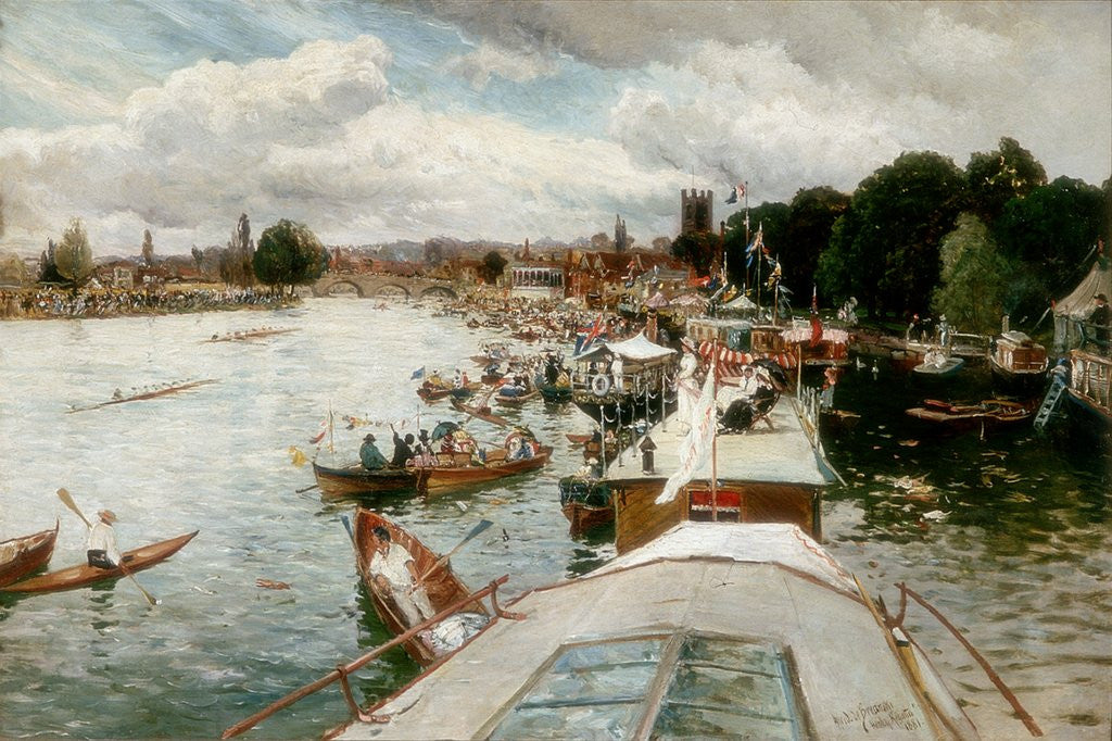 Detail of Henley Regatta by Alfred de Bréanski