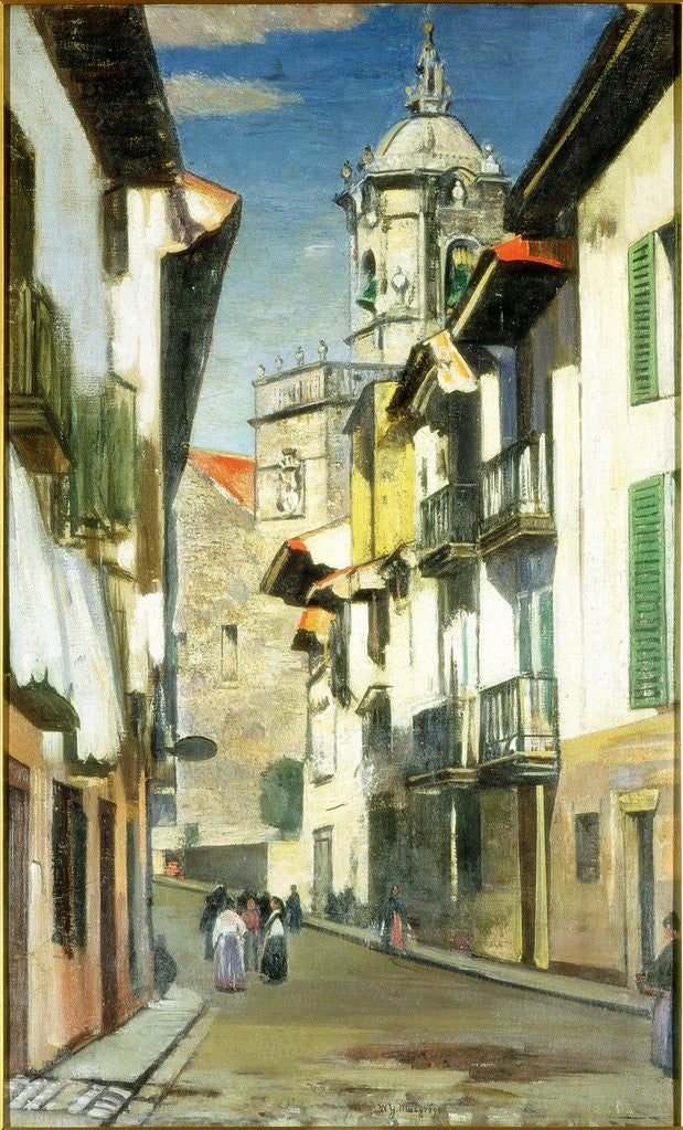 Detail of A Street in Fuenterrabia by William York MacGregor