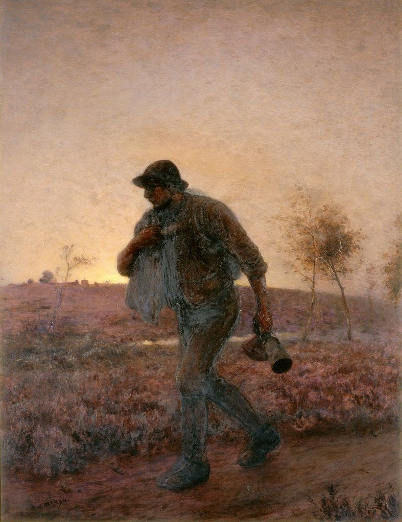 The Ploughman Homeward Plods His Weary Way by Arthur Hardwick Marsh