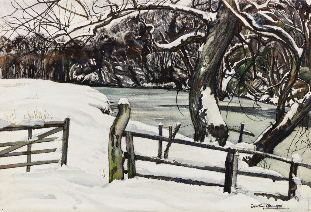 Detail of River Banks in Winter, Warkworth by Dorothy Carr