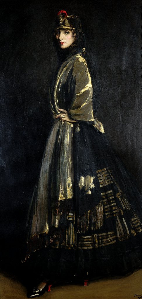 Detail of Hazel in Black and Gold by Sir John Lavery