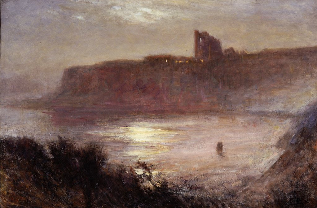 Detail of Moonlight - Tynemouth Priory by Robert Jobling
