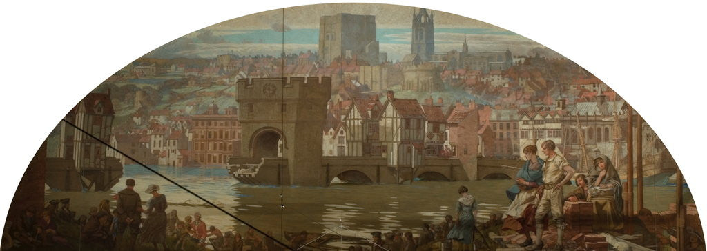 Detail of Newcastle upon Tyne from Gateshead - The Great Flood, AD 1771 by Robert John Scott Bertram