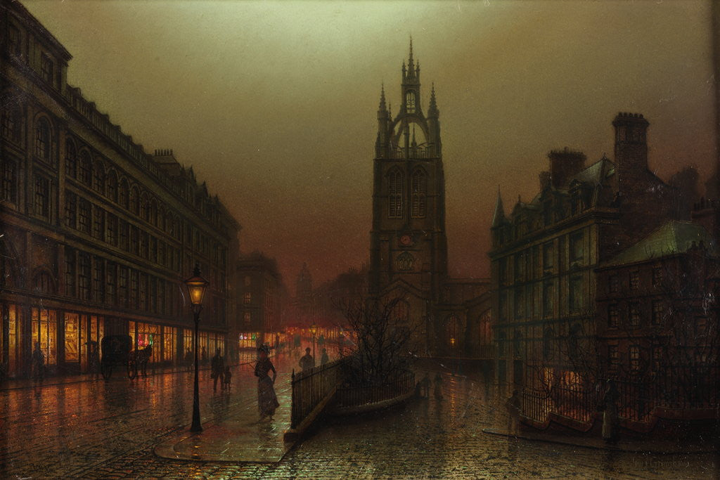 Detail of St Nicholas Street, Newcastle upon Tyne by Louis Hubbard Grimshaw
