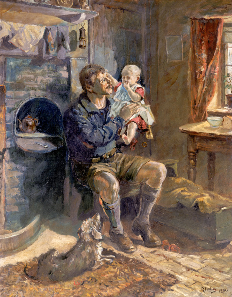 Detail of Geordie Haad the Bairn by Ralph Hedley (after)