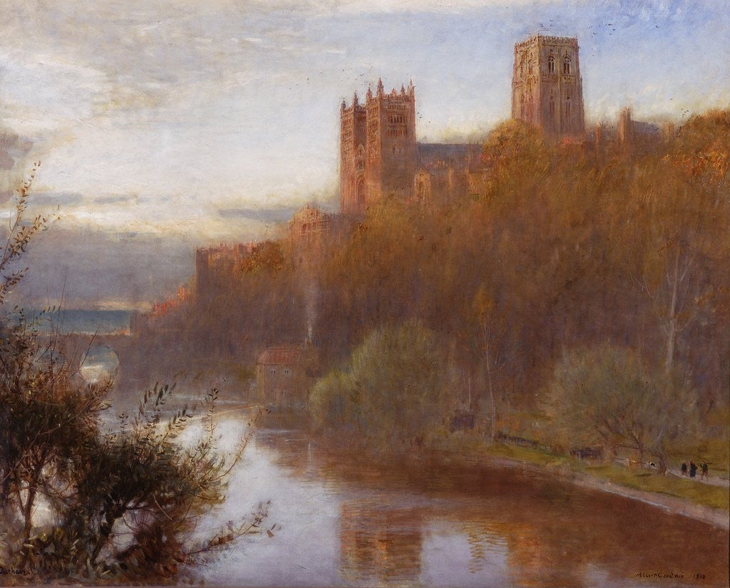 Detail of Durham Cathedral by Albert Goodwin