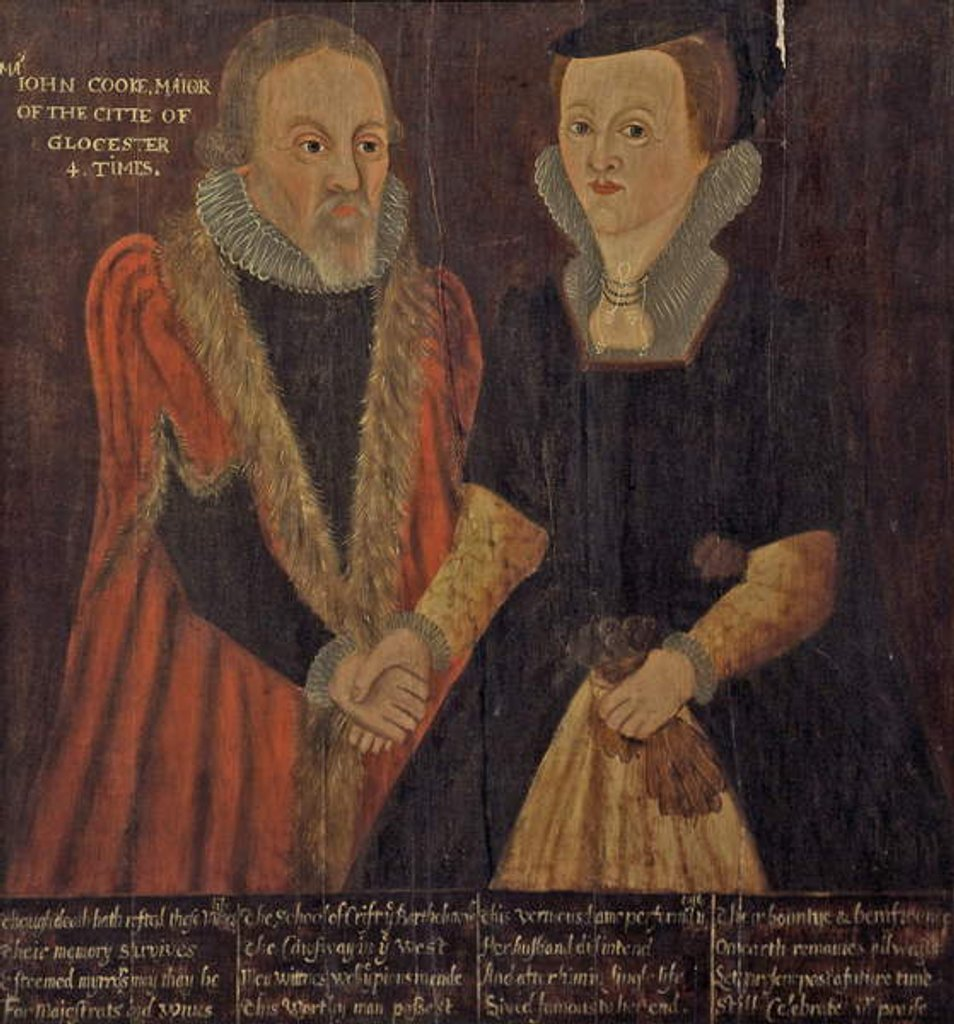 Detail of John and Joan Cooke, c.1605 by English School