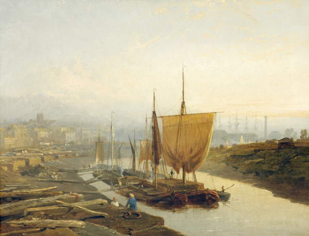 Detail of Gloucester Quay, 1858 by Edmund John Niemann