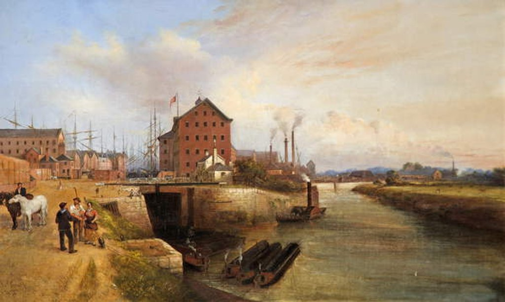 Detail of Gloucester Quay and Docks, 1878 by Edward Smith