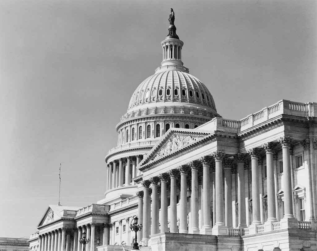 Detail of Dome and Portico of U.S. Capitol by Corbis