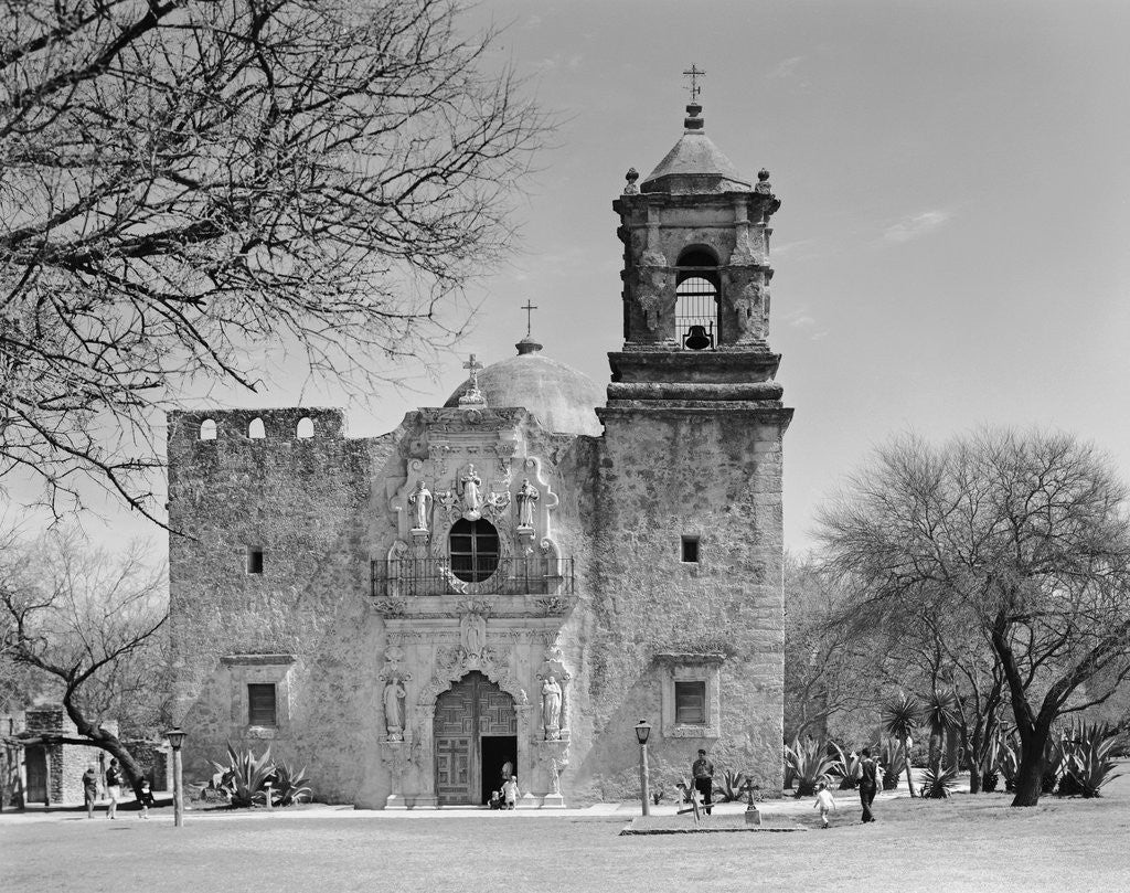 Detail of Facade of the San Jose Mission Church by Corbis