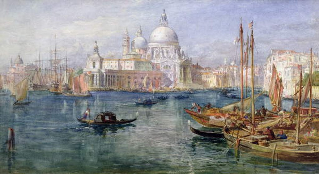 Detail of St. Maria della Salute, Venice by Edward Angelo Goodall