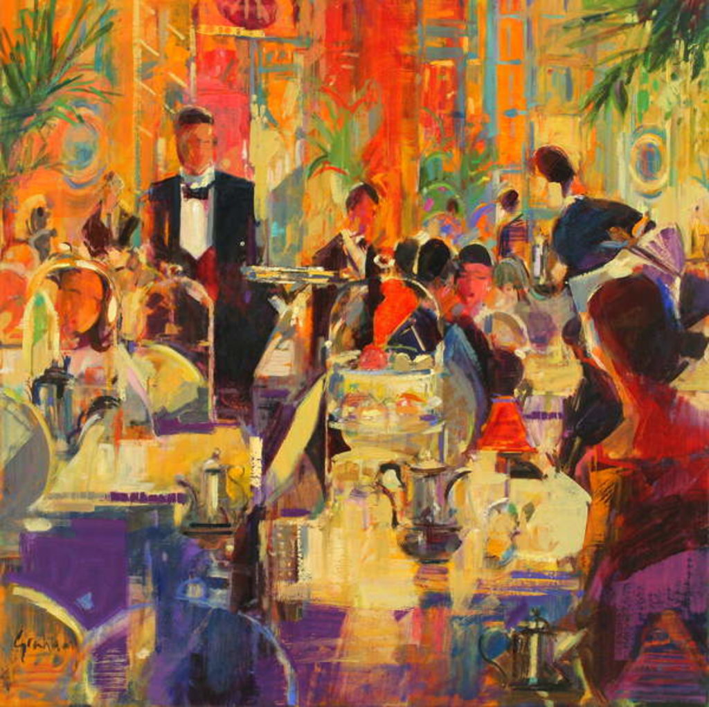 Detail of Afternoon at the Ritz by Peter Graham