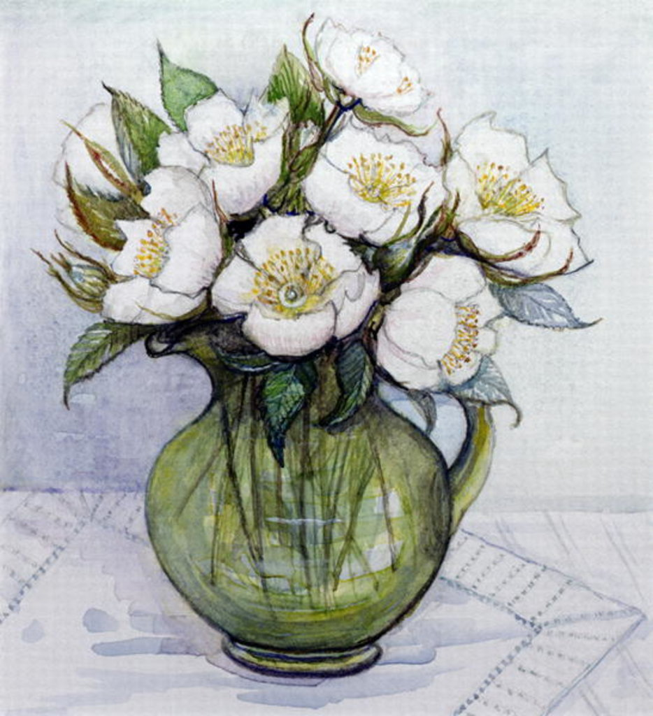 Detail of Christmas Roses, 1984 by Gillian Lawson