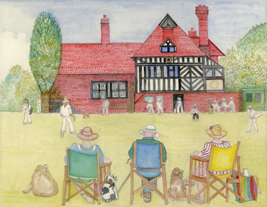 Detail of The Cricket Match, 2018 by Gillian Lawson