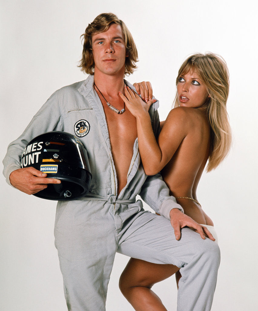 Detail of James Hunt with Sue Shaw by Anonymous