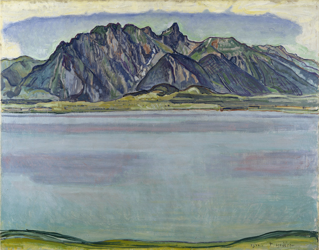 Detail of Lake Thun and the Stockhorn Mountains by Ferdinand Hodler