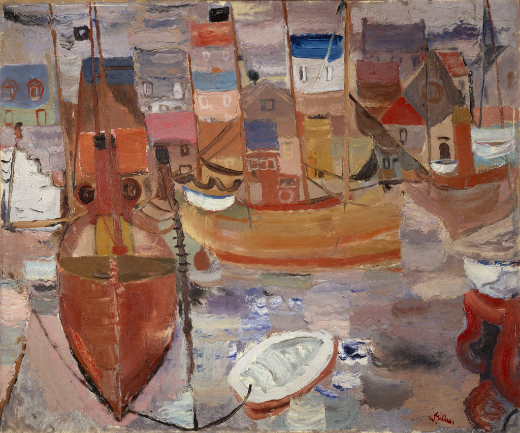 Detail of The Harbour by William Gillies