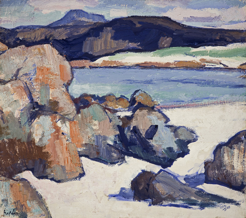 Detail of Iona Landscape: Rocks by Samuel John Peploe