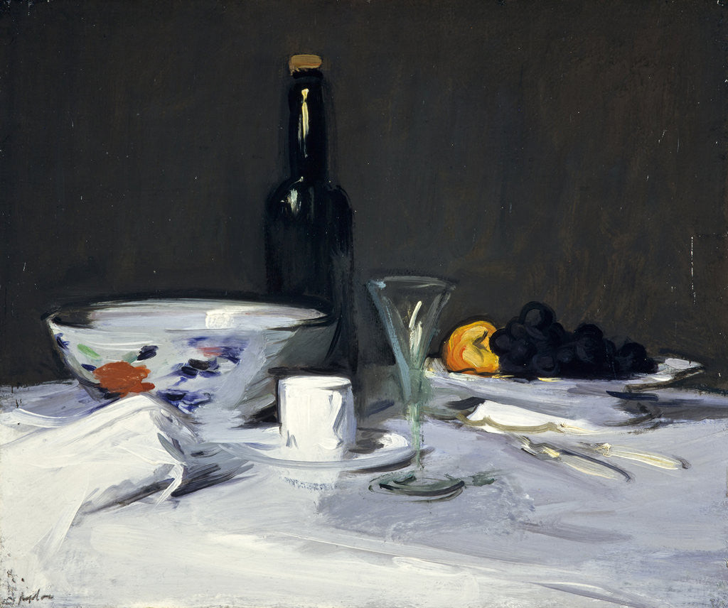 Detail of The Black Bottle by Samuel John Peploe