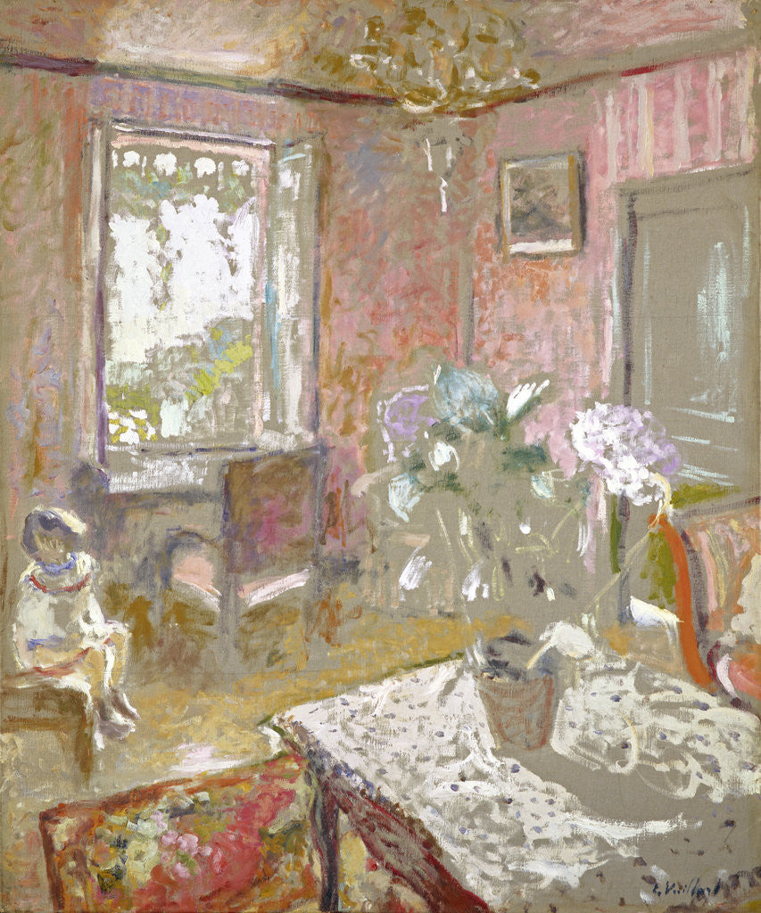 Detail of La Chambre rose [The Pink Bedroom] by Edouard Vuillard