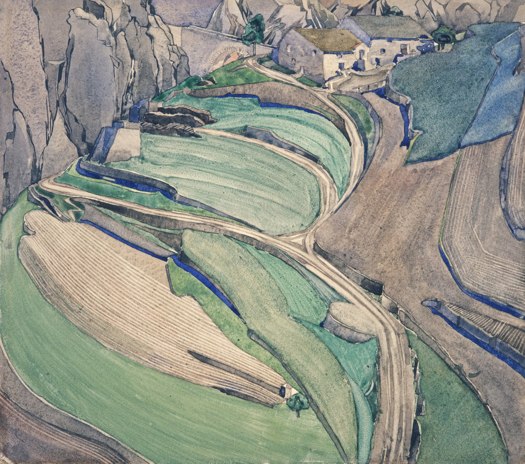 Detail of Mont Alba by Charles Rennie Mackintosh