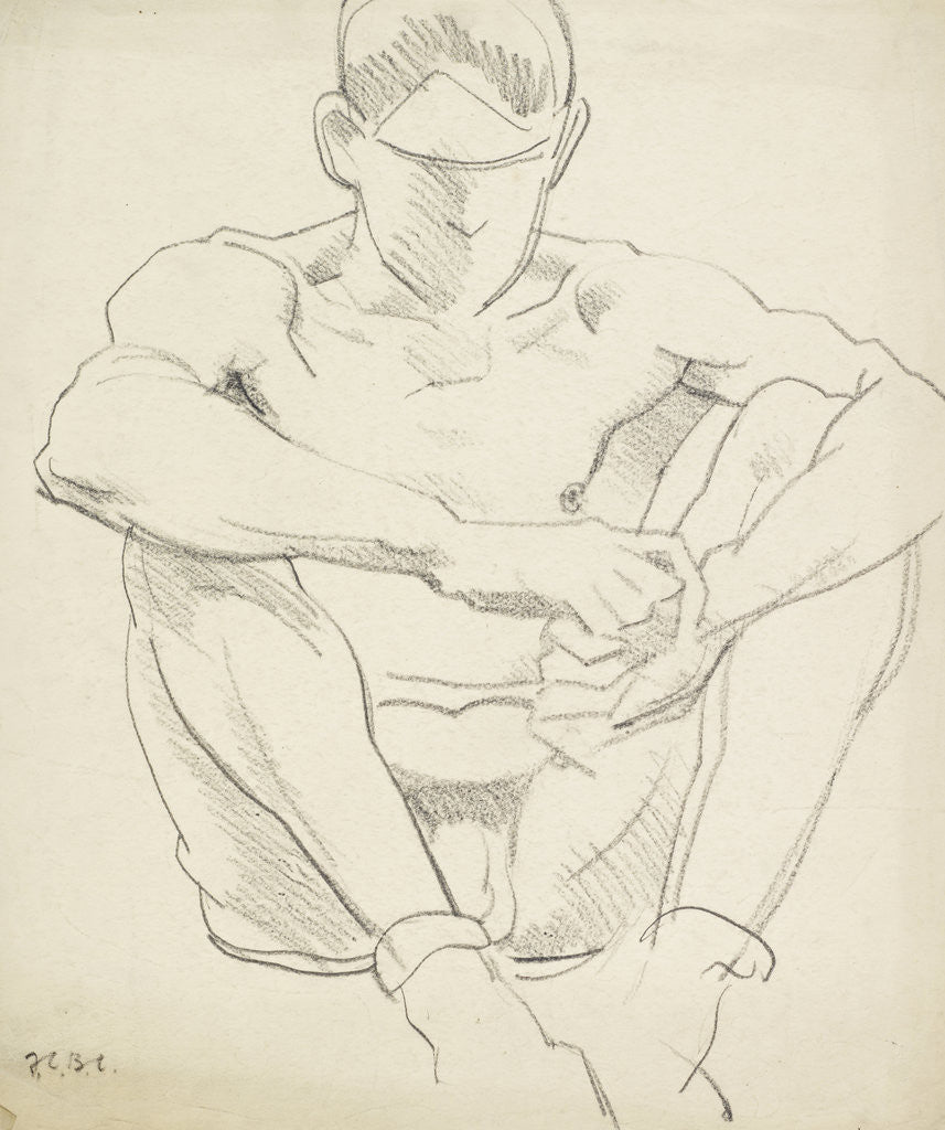 Detail of Male Nude (Seated on the Ground) by Francis Campbell Boileau Cadell